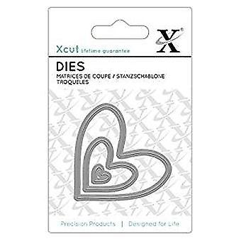 Xcut Mini Dies (3pcs) - Nesting Hearts (XCU 503638)