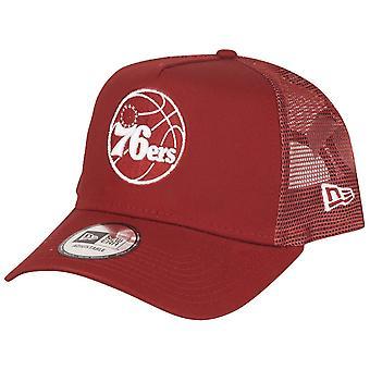 New Era Adjustable Trucker Cap - NBA Philadelphia 76ers rot