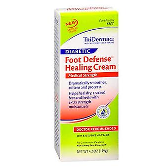 Triderma diabetic foot defense healing cream, doctor recommended, 4.2 oz