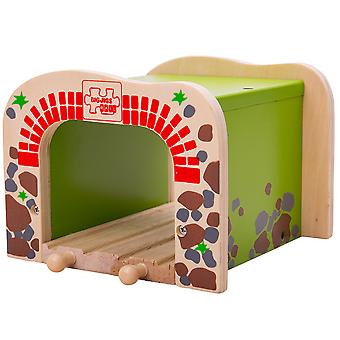 Bigjigs Rail Wooden Double Tunnel Compatible Through Railway Track Accessories