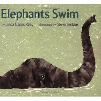 Elephants Swim by Steve Jenkins - Linda Capus Riley - 9780395934890 B
