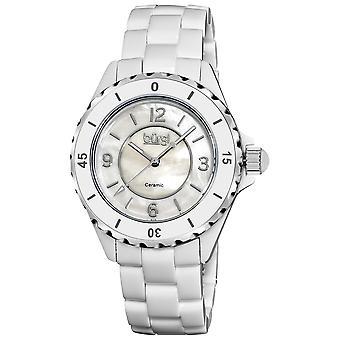 Burgi White Ceramic Quartz Date Bracelet Ladies Watch BUR057WT