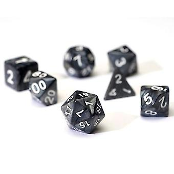 Pearl Charcoal Grey Poly Set Dice Set