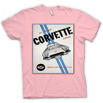 Dame T-shirt - Chevy Corvette Sports - bil