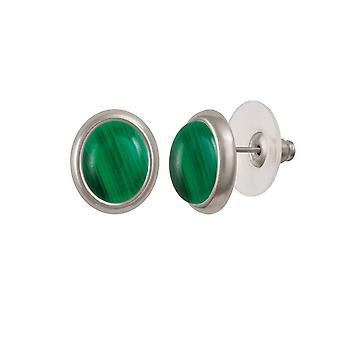 Ewige Sammlung Menuett grünen Malachit Silberfarbe Gestüt Ohrstecker