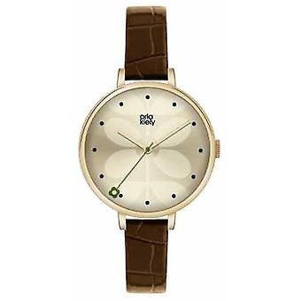 Orla Kiely Ivy Brown Leather Strap OK2030 Watch