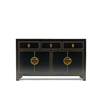 The Nine Schools Qing Black and Gilt Large Sideboard - Baumhaus