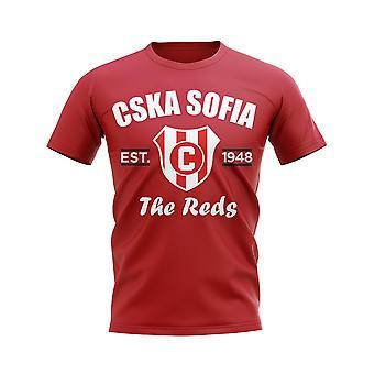 ZSKA Sofia etabliert Fußball T-Shirt (rot)