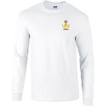 Royal Waggon Train Veteran - Camiseta de manga larga bordada con licencia del Ejército Británico