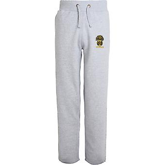 Royal Scots Fusiliers Veteran - Licensed British Army Embroidered Open Hem Sweatpants / Jogging Bottoms