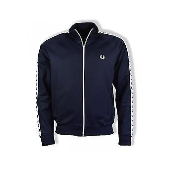 Fred Perry Taped Track Jacket (Carbon Blue)