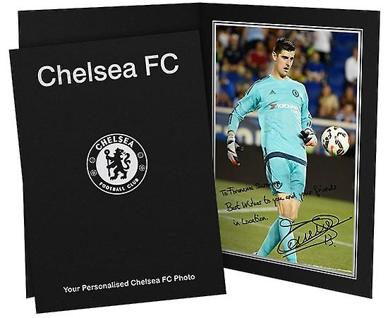 Chelsea Personalised Courtois Autographed Photo
