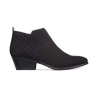 Style & Co. Womens Wessley Quilted Faux Suede Booties