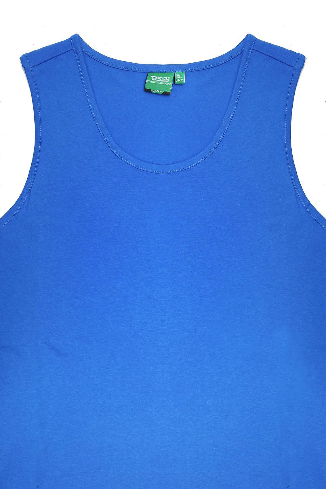 D555 Blue Crew Neck Vest