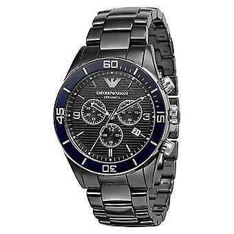 Emporio Armani Ar1429 - Black Ceramic Chronograph Mens Watch