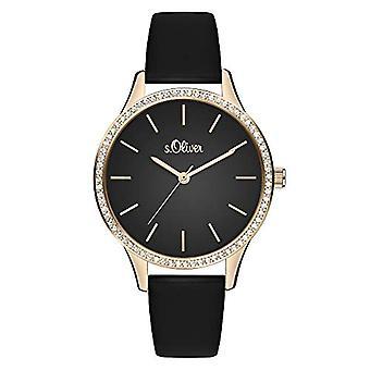s.Oliver Quartz Women's Analog Clock with SO-3831-LQ Leather Belt