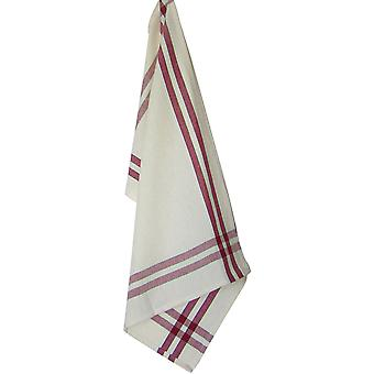 Cream Towel with Red & Black Stripes 20