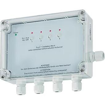 HomeMatic Wireless switching actuator 76796 4-channel Surface-mount 3680 W