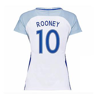 2016-17 England Home Womans Shirt (Rooney 10)