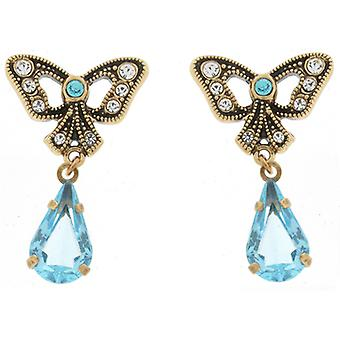 Cavendish French Bow and Aquamarine Drop Earrings