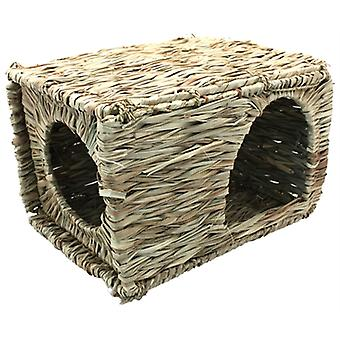 HAPPY PET GRASSY HIDEAWAY VERSTOPPLEK LARGE 36X27X18 CM
