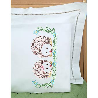 Children's Stamped Pillowcase W/White Perle Edge 1/Pkg-Hedgehogs 1605 861