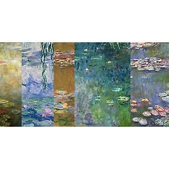 Impressão de Poster IV nenúfares de Claude Monet