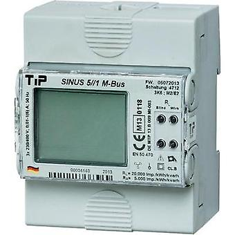 Electricity meter (3-phase) incl. converter jack digital MID-approved: Yes TIP SINUS 5//1 S0