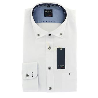 Olympus casual shirt S (37/38) long sleeve white