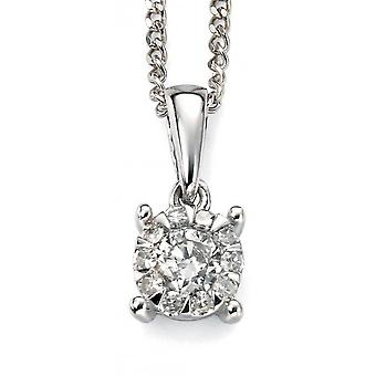 9 CT oro bianco con diamanti