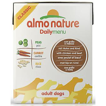 Almo Nature Daily Menu Dog Chicken & Beef 375g (Pack of 12)