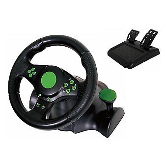 Vibrazione di Gaming Kabalo Racing (23cm) di volante e pedali per PS4 PS3 PC USB