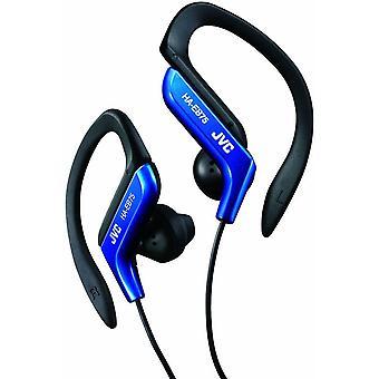JVC Sport Ear-Clip-Ohrhörer mit verstellbaren Clip - blau (Modell-Nr. HAEB75A)