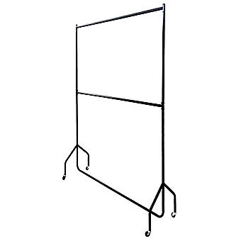5ft long x 7ft Two Tier Heavy Duty Clothes Rail Garment Hanging Rack In Black