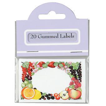Traditionelle gummieret rektangel Bevar etiketter, Pack af 20