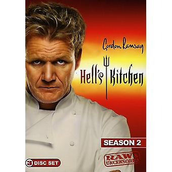 Hell's Kitchen - Hell's Kitchen: sæson 2 Raw & Uncensored [DVD] USA importerer