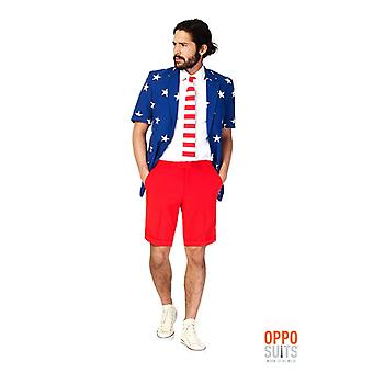 Opposuit United stripes America USA summer suit slimline Premium 3-piece set