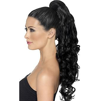 Divine hair extensions clip in black and curly
