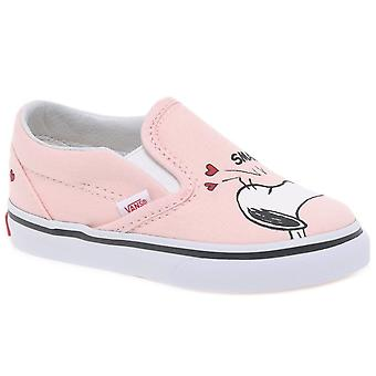 Vans Peanuts Smack Girls Toddler Slip On Canvas Shoes