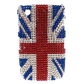W.A.T Blackberry Curve funkelnden Kristall Union Jack Cover