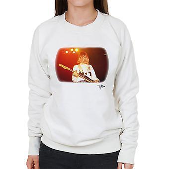 Kurt Cobain Live kitaransoiton valkoinen Naisten huppari