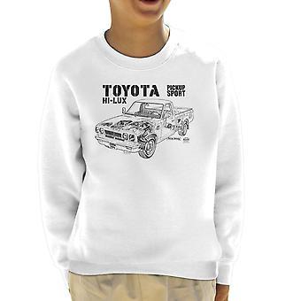 Haynes Workshop Manual Toyota Hi Lux Black Kid's Sweatshirt