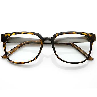 デザイナーに影響を与えた明確なレンズのホルンは金属製のアームとスタイル眼鏡をかけて