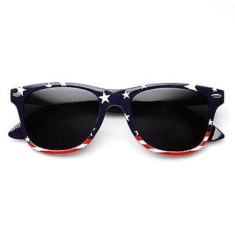 U.S. American Flag USA Stars and Stripes Horn Rimmed Sunglasses