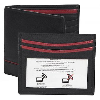 Dents Smooth Credit Card Holder and RFID Blocking Wallet Gift Set  - Black/Red