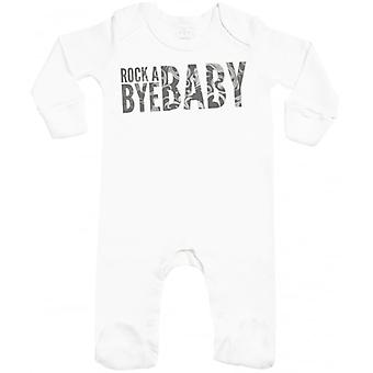 Spoilt Rotten Rock A Bye Baby Baby Sleepsuit With Scratch Mitts
