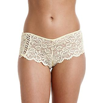 Camille Womens Ladies Lemon Lace Boxer Shorts 10-20