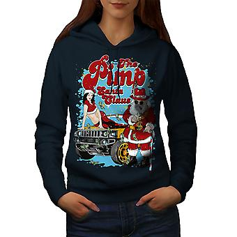 Santa Claus Hot Christmas Women NavyHoodie | Wellcoda