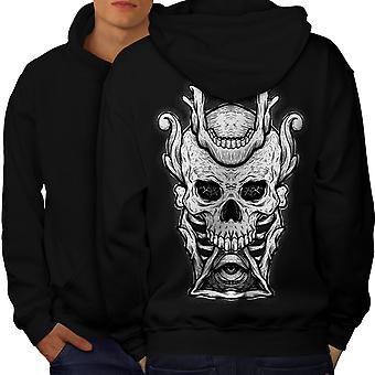 Illuminati Horror cráneo hombres BlackHoodie espalda | Wellcoda