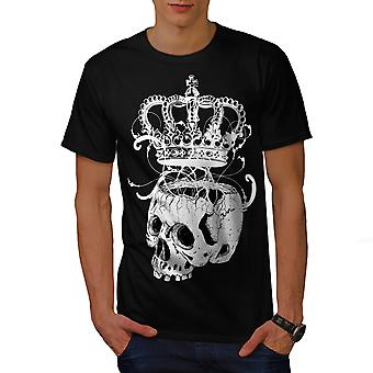 Krone skelet Rock mænd BlackT-skjorte | Wellcoda